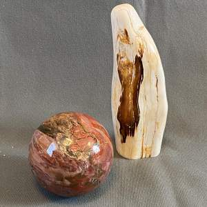 Pair of Petrified Wood Sculptures