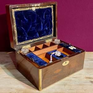 19th Century Rosewood Jewellery Box