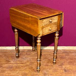 Victorian Mahogany Drop Leaf Pembroke Sewing Table