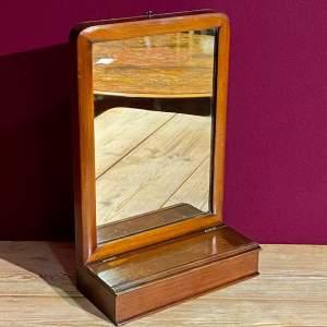Edwardian Mahogany Hall Mirror with Glove Box