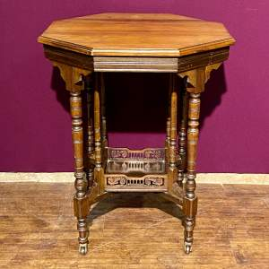 Edwardian Walnut Top Table