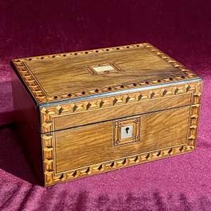 Late 19th Century Inlaid Mahogany Jewellery Box
