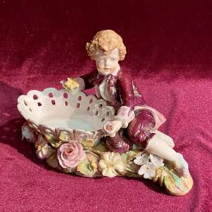 Late 19th Century Porcelain Figure of a Young Boy