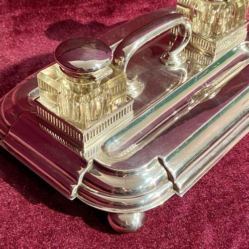 Victorian Silver Plate Desk Stand image-2