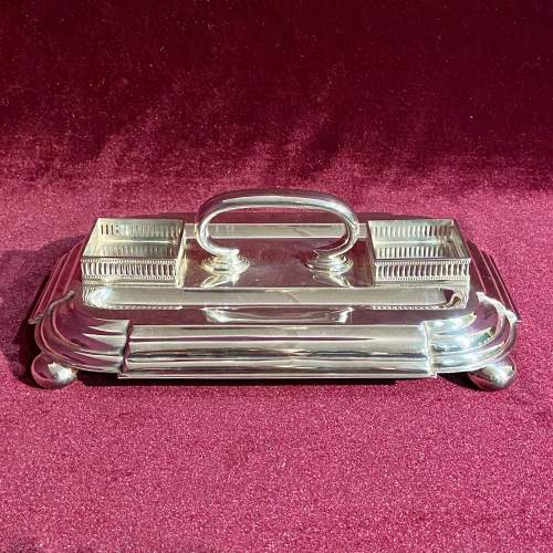 Victorian Silver Plate Desk Stand image-3