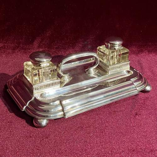 Victorian Silver Plate Desk Stand image-6