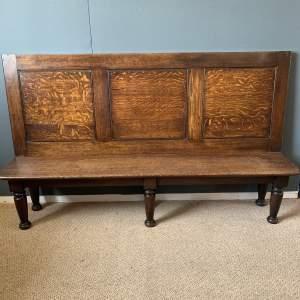 Large Antique Oak Settle
