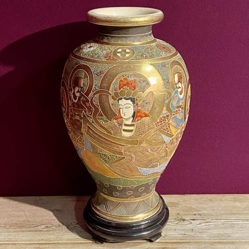 Early 20th Century Japanese Satsuma Vase image-1