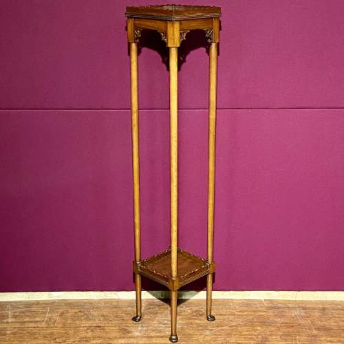 Early 20th Century Mahogany Torchere/ or Sculpture Display Stand image-1