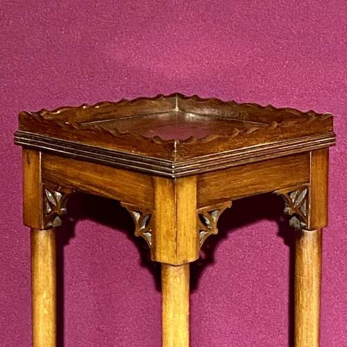 Early 20th Century Mahogany Torchere/ or Sculpture Display Stand image-3