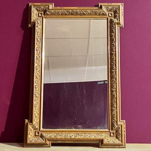 Late Victorian Aesthetic Period Wooden Framed Wall Mirror image-1