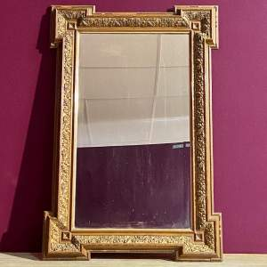 Late Victorian Aesthetic Period Wooden Framed Wall Mirror