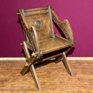Victorian Oak Glastonbury Chair