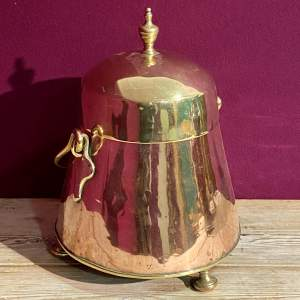 Victorian Brass and Copper Coal Holder