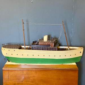 Hand Built Wooden Model of a Cruiser