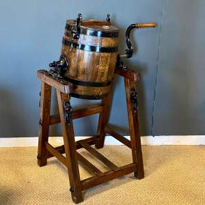 Wooden Butter Churn and Stand