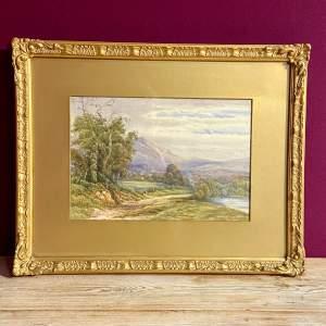 Victorian Watercolour Landscape by L G Freck