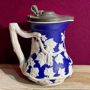 Minton 19th Century Relief Moulded Ceramic Jug
