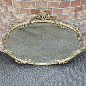 Early 19th Century Oval Gilt Wall Mirror