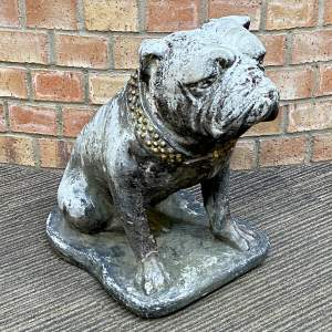 20th Century Cast Stone Statue of a Bulldog