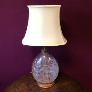 Hobnail Cut Glass Table Lamp