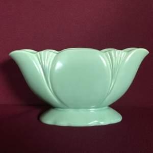 Art Deco Turquoise Planter Vase