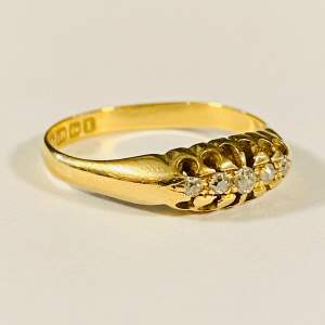 Vintage 18ct Gold Vintage Diamond Ring