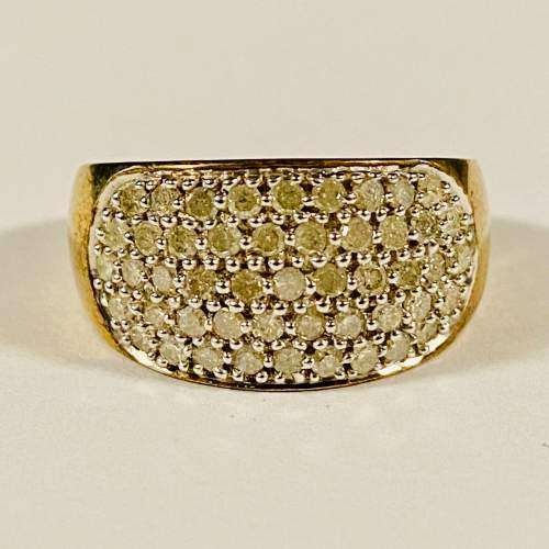 Heavy 9ct Gold and 1 Carat of Diamonds Ring image-2