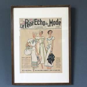 Original Front Page Le Petit Echo De La Mode