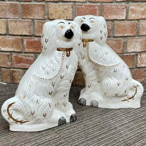 Pair of 19th Century Staffordshire Mantelpiece Dogs