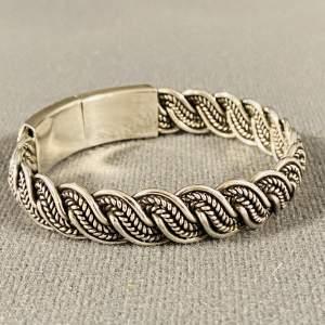 Ornate Heavy Silver Bracelet