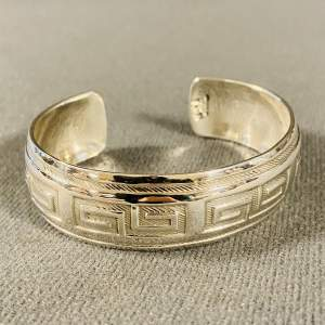 Heavy Mexican Silver Bangle