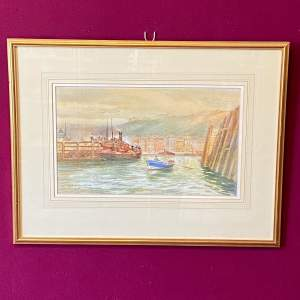 North Eastern England Harbour Scene by Ralph Johnson