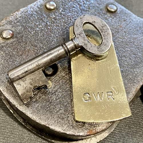 Large Sized Iron Padlock Marked GWR image-4