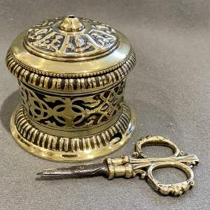 Victorian Cast Brass String Box