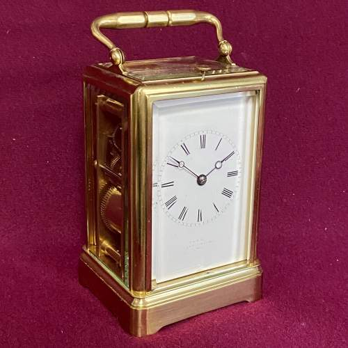 Good Quality French Brass Carriage Clock image-1