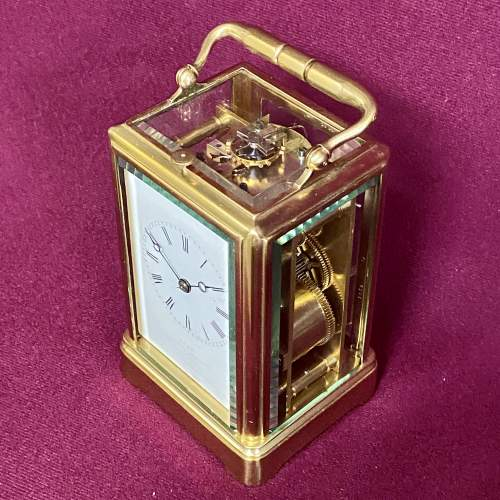 Good Quality French Brass Carriage Clock image-2