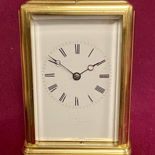 Good Quality French Brass Carriage Clock image-3