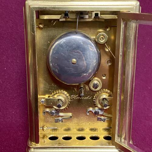 Good Quality French Brass Carriage Clock image-5
