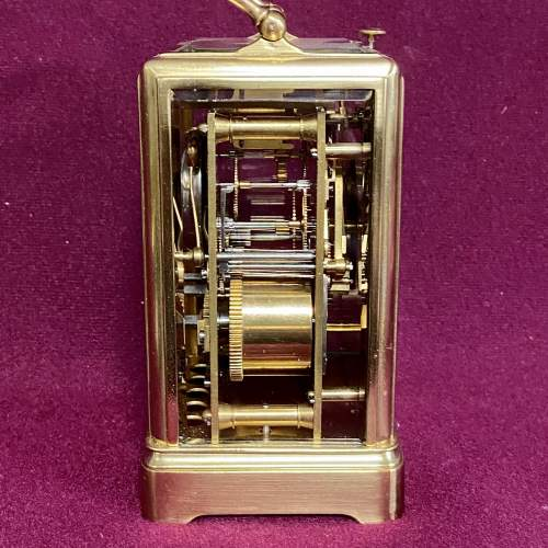 Good Quality French Brass Carriage Clock image-4