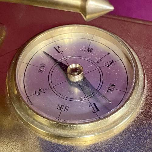Early 20th Century Clock Barometer Thermometer Compass Set image-5