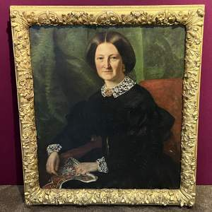 Fine 19th Century Oil on Canvas Portrait of a Lady