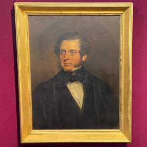 Fine 19th Century Oil on Canvas Portrait of a Young Gentleman