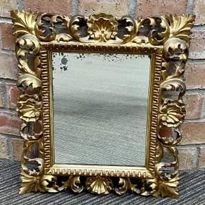 Small Italian Florentine Mirror