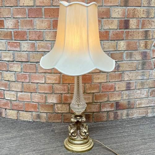Decorative Gilt Metal and Glass Table Lamp image-1