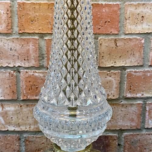 Decorative Gilt Metal and Glass Table Lamp image-4