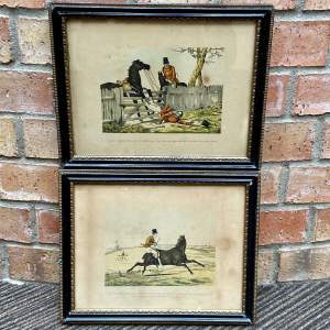 Pair of 19th Century Humorous Hunting Prints