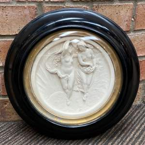Framed Victorian Parian Plaque After Edward William Wyon