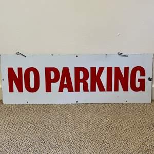 Enamel No Parking Sign