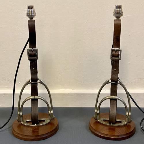 Pair of Side Saddle Stirrup Lamps image-1